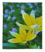 The Most Beautiful Flowers Fleece Blanket
