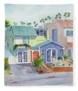 The Most Colorful Home In Belmont Shore Fleece Blanket