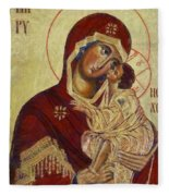 The Mother Of God -the Don Icon Fleece Blanket