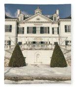 The Mount Edith Warton Estate Lenox Ma Fleece Blanket