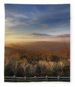 The Mountains Of Brasstown Bald Fleece Blanket