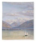 The Mountains Of St Gingolph Fleece Blanket