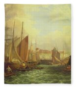 The Mouth Of The Yare, 1821 Fleece Blanket