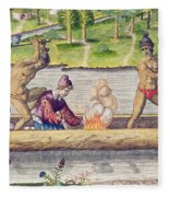The Murder Of A Frenchman Fleece Blanket