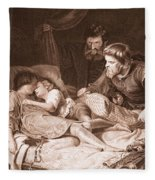 The Murder Of The Princes In The Tower Fleece Blanket