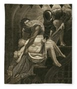 The Murder Of The Two Princes Fleece Blanket