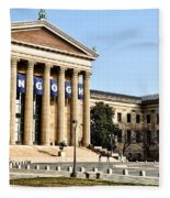 The Museum Of Art In Philadelphia Fleece Blanket