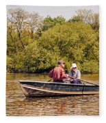 The Music Never Ends - Central Park Pond - Nyc Fleece Blanket