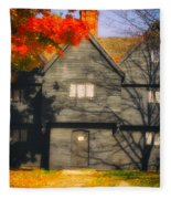 The Mysterious Witch House Of Salem Fleece Blanket