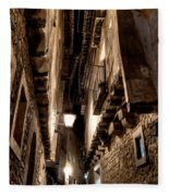 Narrow Street In Albarracin Fleece Blanket