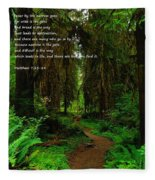 The Narrow Way Fleece Blanket