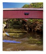 The Narrows Covered Bridge 1 Fleece Blanket