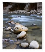 The Narrows One Step At A Time Fleece Blanket