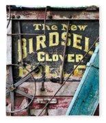 The New Birdsell Clover Huller Fleece Blanket