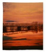 The New Hope Bridge Fleece Blanket