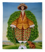 The New Vestments Ivor Cutler As Character In Edward Lear Poem, 1994 Oils And Tempera On Panel Fleece Blanket