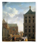 The Nieuwe Kerk And The Rear Of The Town Hall In Amsterdam  Fleece Blanket