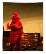 The Night Of The Lobster Man Fleece Blanket