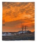 The Night Train Fleece Blanket