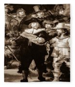 The Night Watch By Rembrandt Fleece Blanket