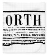 The North Star, 1847 Fleece Blanket