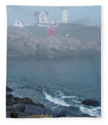 The Nubble Lighthouse At York Maine Fleece Blanket