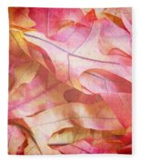 The Oak Leaf Pile Fleece Blanket