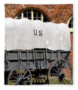 The Old Army Wagon Fleece Blanket