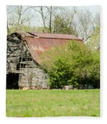 The Old Barn Fleece Blanket