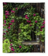 The Old Barn Window Fleece Blanket