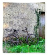 The Old Bike In The Irish Countryside Fleece Blanket