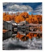 The Old Boat House Fleece Blanket