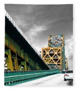 The Old Bridge Hwy 190 Mississippi River Bridge Baton Rouge Fleece Blanket