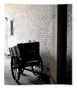 The Old Cart From The Series View Of An Old Railroad Fleece Blanket