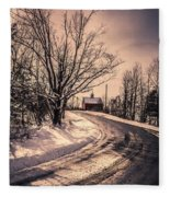 The Old Farm Down The Road Fleece Blanket