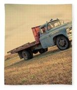 The Old Farm Truck Fleece Blanket