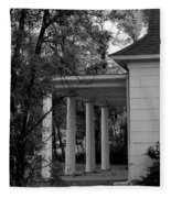 The Old Homestead In Black And White Fleece Blanket