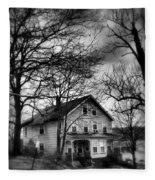 The Old House Down The Street Fleece Blanket