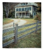 The Old House On The Hill  Fleece Blanket
