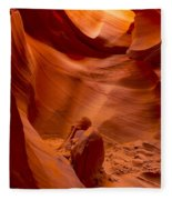 The Old Man Of The Canyons Fleece Blanket