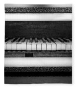 The Old Piano Fleece Blanket