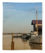 The Old Point - St Michaels  Fleece Blanket