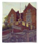 The Old Schools, Harrow Oil On Canvas Fleece Blanket