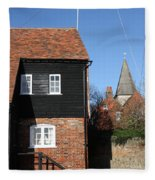 The Old Water Mill Bosham Fleece Blanket
