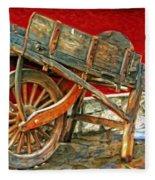 The Old Wheelbarrow Fleece Blanket