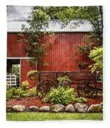 The Old Wood Cart Fleece Blanket