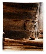 The Old Workshop Fleece Blanket