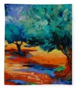 The Olive Trees Dance Fleece Blanket