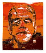 The Orange Monster Fleece Blanket