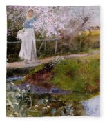 The Orchard Brook  Fleece Blanket